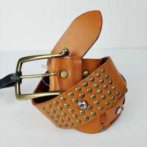 Linea Pelle Saks 5th Ave Leather Belt Med NWT $130